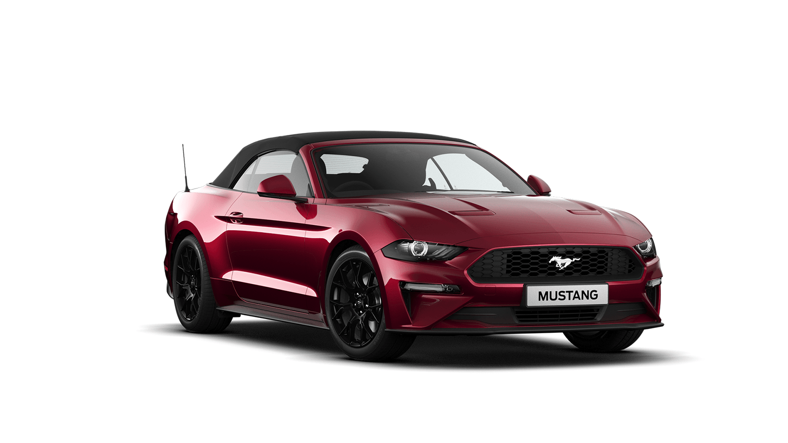 NEW MUSTANG 2.3 EcoBoost Convertible in Ruby Red