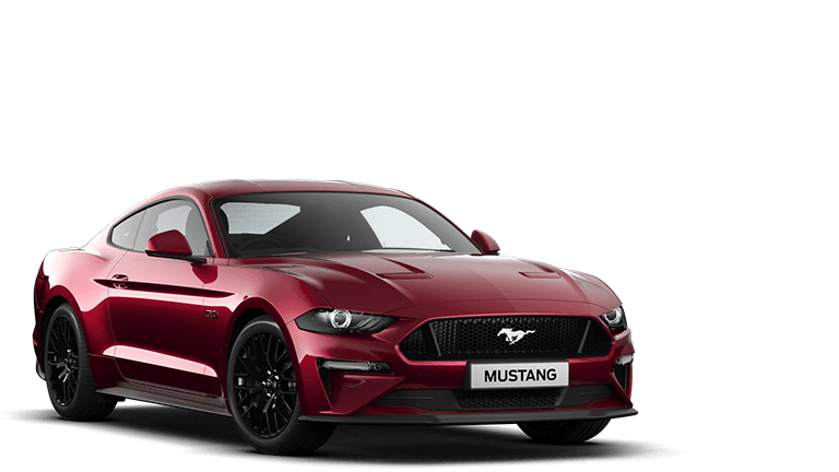 NEW MUSTANG 5.0 V8 GT Fastback in Ruby Red