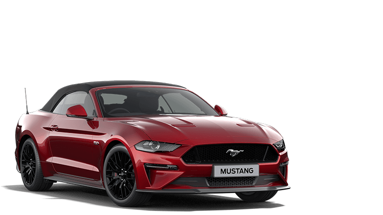 NEW MUSTANG 5.0 V8 GT Convertible in Lucid Red