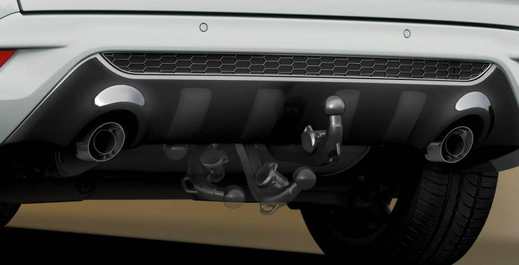 A retractable tow bar: there when you need it